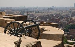 Flyg- sikt av Kairo från citadell Royaltyfri Foto
