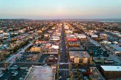Flyg- sikt av Kalifornien hus Arkivfoto
