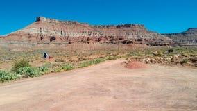 Flyg- sikt av kanjonen i Utah, Förenta staterna royaltyfri foto
