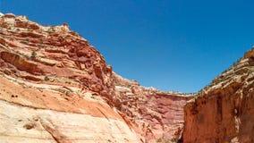 Flyg- sikt av kanjonen i Utah, Förenta staterna fotografering för bildbyråer