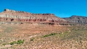 Flyg- sikt av kanjonen i Utah, Förenta staterna royaltyfria foton