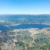 Flyg- sikt av Kelowna F. KR. Royaltyfri Bild