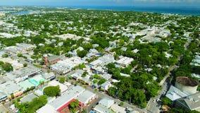 Flyg- sikt av Key West Florida USA arkivfilmer