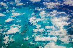 Flyg- sikt av Key West och florida tangenter Arkivbild