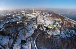 Flyg- sikt av Kiev-Pechersk Lavra Royaltyfri Fotografi