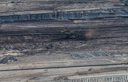 Flyg- sikt av kolgruvan Arkivfoto