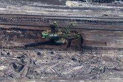 Flyg- sikt av kolgruvan Royaltyfri Bild