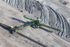 Flyg- sikt av kolgruvan Arkivfoton
