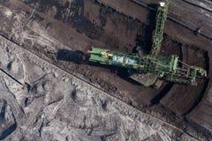 Flyg- sikt av kolgruvan Arkivbild