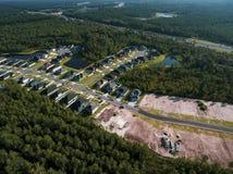 Flyg- sikt av konstruktionsplatsen i Florida Royaltyfri Bild