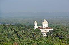 Flyg- sikt av kyrkan av St Cajetan, Goa royaltyfri foto