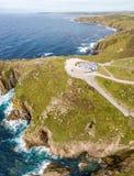 Flyg- sikt av lands slut i Cornwall Royaltyfria Foton