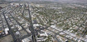 Flyg- sikt av Las Vegas Nevada Arkivfoton