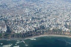 Flyg- sikt av Lima Peru Royaltyfri Fotografi