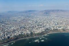 Flyg- sikt av Lima Peru Royaltyfria Foton