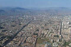 Flyg- sikt av Lima Peru Royaltyfria Bilder