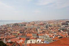 Flyg- sikt av Lisbon (Portugal) Royaltyfri Bild