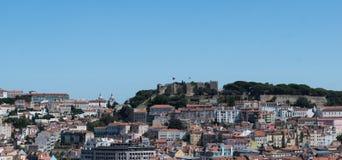 Flyg- sikt av Lissabon, Alfama, Portugal Royaltyfri Bild