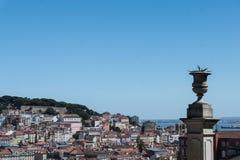 Flyg- sikt av Lissabon, Alfama, Portugal Arkivbild
