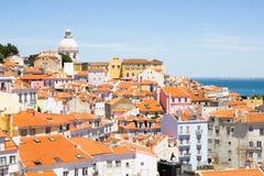 Flyg- sikt av Lissabon, Portugal Fotografering för Bildbyråer