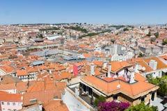 Flyg- sikt av Lissabon, Portugal Arkivfoto