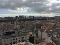 Flyg- sikt av Lissabon, Portugal royaltyfri fotografi