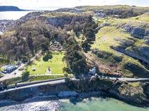 Flyg- sikt av Llandudno i Wales - Förenade kungariket Fotografering för Bildbyråer