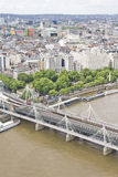Flyg- sikt av London Arkivfoto