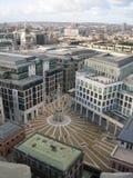 Flyg- sikt av London, Förenade kungariket från kyrka för St Pauls Royaltyfri Foto