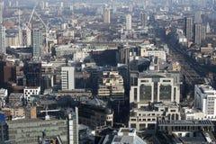Flyg- sikt av London från den Walkie Talkiebyggnaden på gatan för 20 Fenchurch Fotografering för Bildbyråer