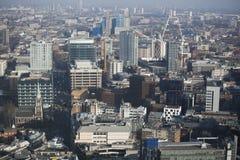 Flyg- sikt av London från den Walkie Talkiebyggnaden på gatan för 20 Fenchurch Royaltyfri Fotografi