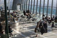 Flyg- sikt av London från den Walkie Talkiebyggnaden på gatan för 20 Fenchurch Royaltyfria Foton