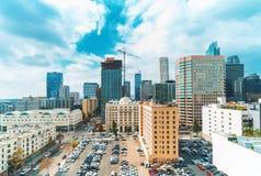 Flyg- sikt av Los Angeles, CA fotografering för bildbyråer
