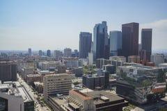 Flyg- sikt av Los Angeles cityscape Arkivbilder