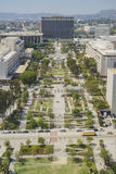 Flyg- sikt av Los Angeles cityscape Royaltyfri Bild