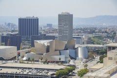 Flyg- sikt av Los Angeles cityscape Royaltyfri Fotografi