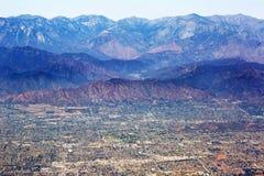 Flyg- sikt av Los Angeles i Förenta staterna Royaltyfria Foton