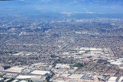 Flyg- sikt av Los Angeles i Förenta staterna fotografering för bildbyråer