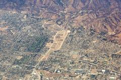 Flyg- sikt av Los Angeles i Förenta staterna arkivbilder