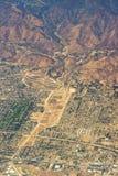 Flyg- sikt av Los Angeles i Förenta staterna arkivfoton