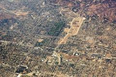 Flyg- sikt av Los Angeles i Förenta staterna arkivfoto