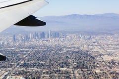 Flyg- sikt av Los Angeles i Förenta staterna Royaltyfria Bilder