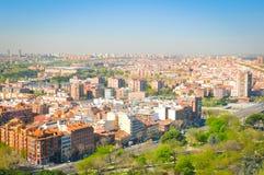 Flyg- sikt av Madrid Royaltyfria Foton