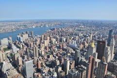 Flyg- sikt av Manhattan från Empire State Building i New York Arkivfoton