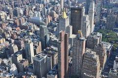 Flyg- sikt av Manhattan från Empire State Building i New York Fotografering för Bildbyråer