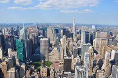 Flyg- sikt av Manhattan från Empire State Building i New York Royaltyfria Bilder