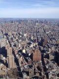 Flyg- sikt av Manhattan från WTCEN Arkivbilder