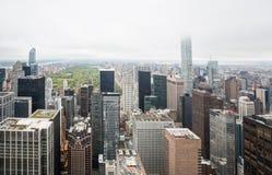 Flyg- sikt av Manhattan tak Arkivfoto
