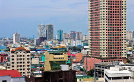 Flyg- sikt av Manila Arkivfoto