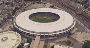 Flyg- sikt av Maracana fotbollsarena lager videofilmer